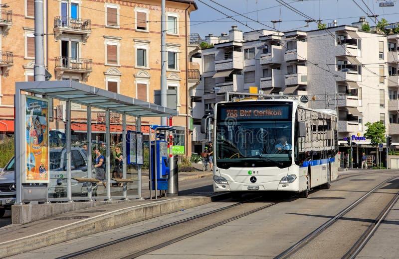 Autobus de Vbg à Zurich photos libres de droits