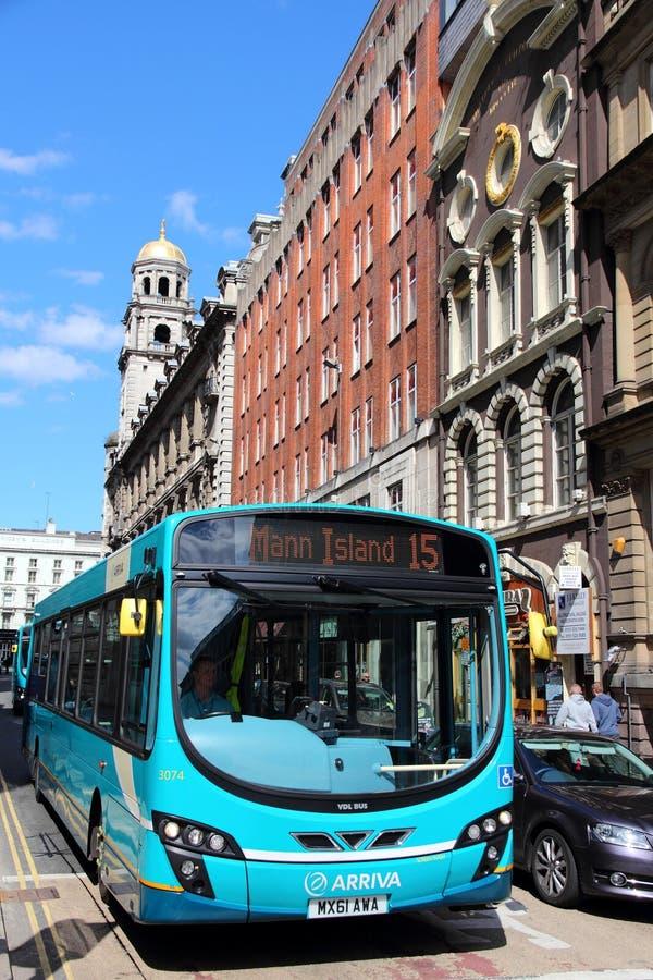 Autobus de ville de Liverpool image stock