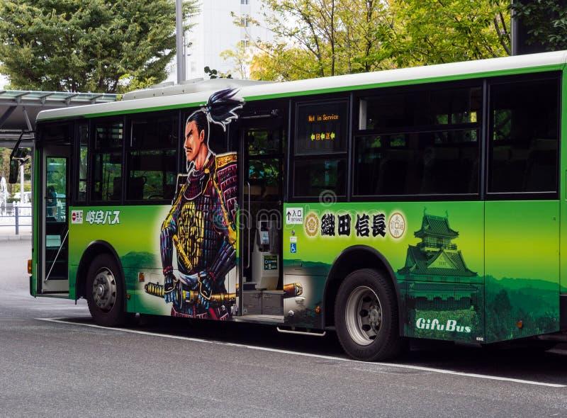 Autobus de ville de Gifu photo stock