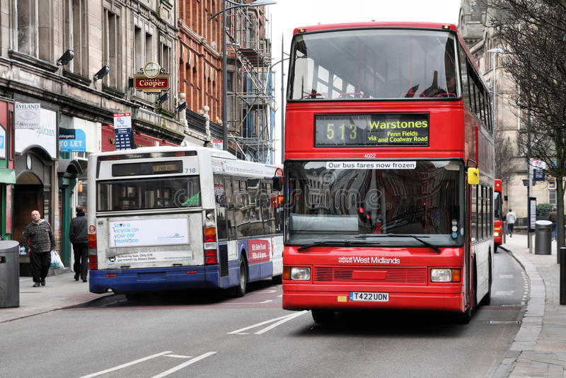 Autobus a due piani rosso immagini stock libere da diritti