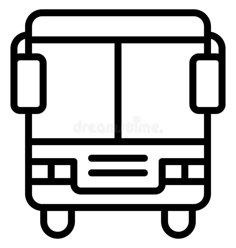 Autobus, icona di vettore isolata bus che può essere modificata o pubblicata facilmente royalty illustrazione gratis