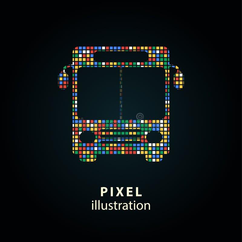 Autobus - illustration de pixel illustration libre de droits