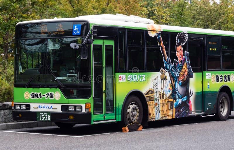Autobus japonais peint images libres de droits