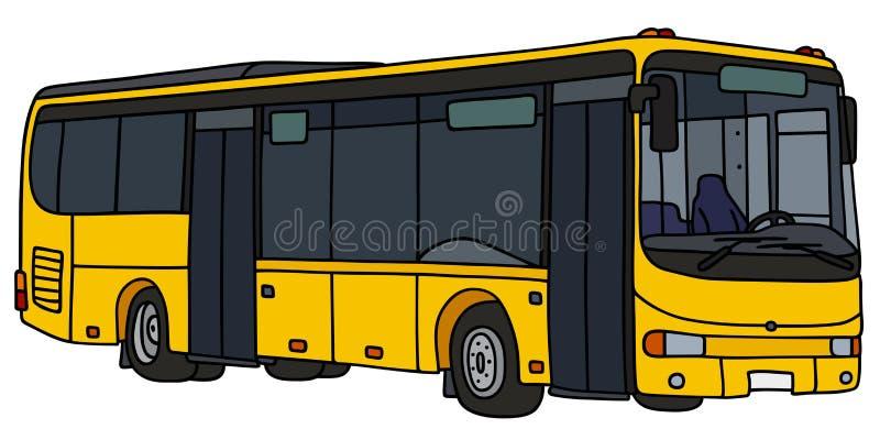 Autobus jaune de ville illustration stock