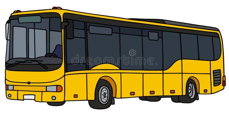 Autobus jaune de ville illustration libre de droits