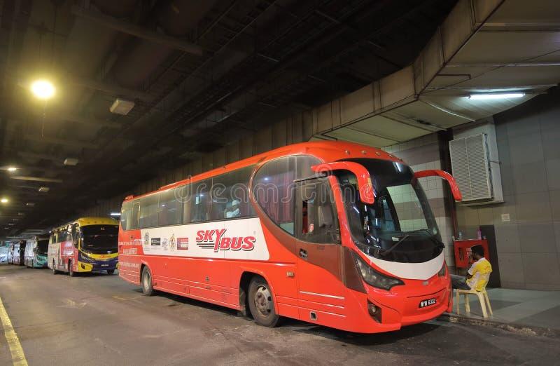 Autobus Kuala Lumpur Malaysia d'aéroport photographie stock