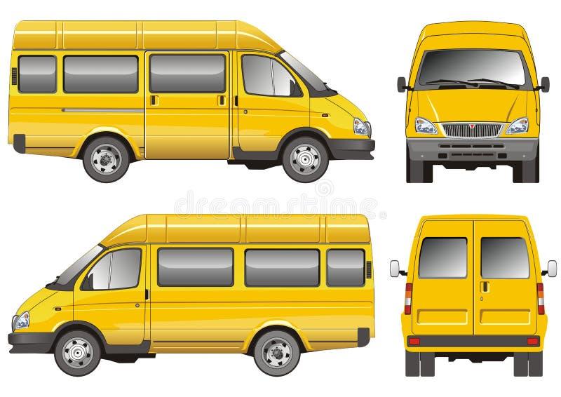 autobus mini żółty ilustracja wektor