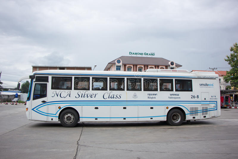 Autobus Nakhonchai powietrze Trasa Bangkok i Nakhonpanom zdjęcia royalty free