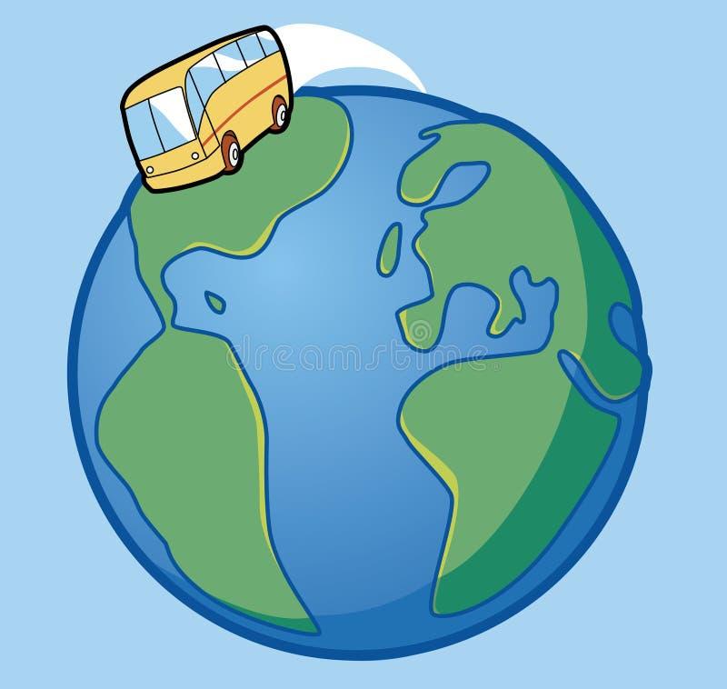 autobus podróżowanie royalty ilustracja