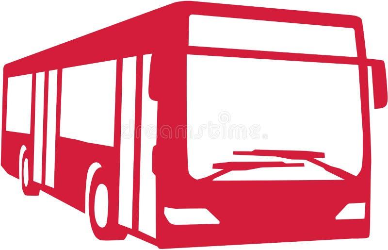 Autobus rouge de ville illustration stock