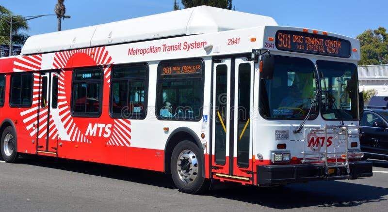 Autobus San Diego metropolita system transportowy zdjęcie stock
