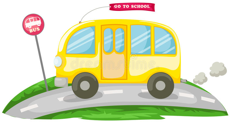 Autobus scolaire illustration de vecteur