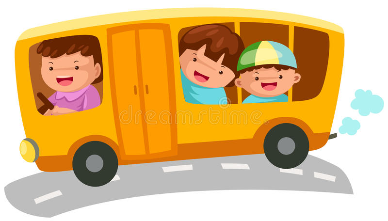 Autobus scolaire illustration stock