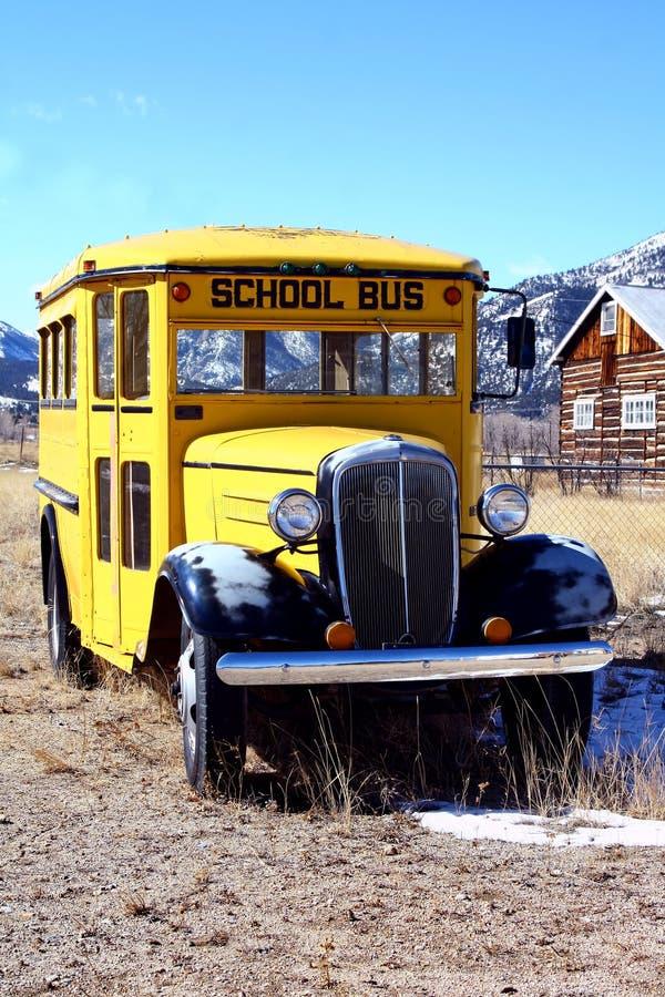 Autobus scolaire de cru image stock