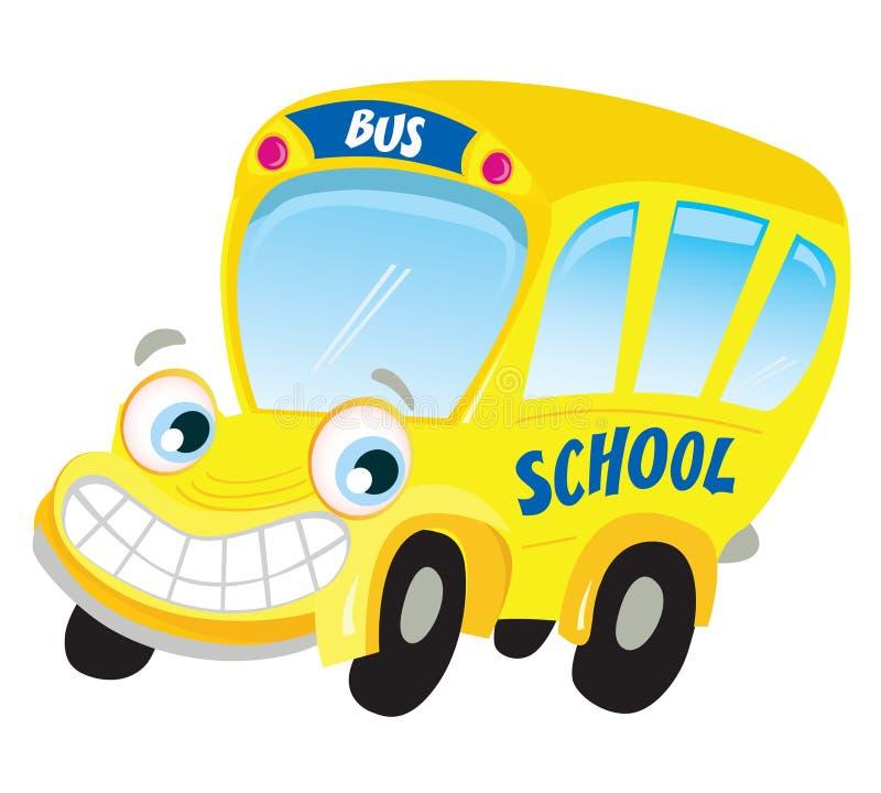Autobus scolaire jaune d'isolement illustration libre de droits