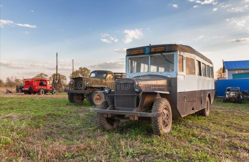 Autobus soviétique de vintage rétro images stock