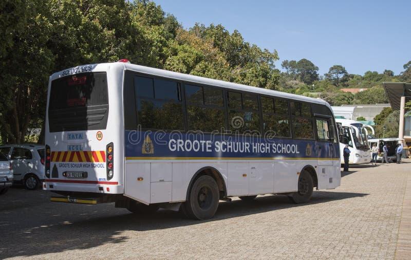 Autobus szkolny Kapsztad Południowa Afryka obraz stock