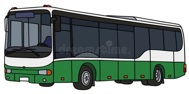 Autobus vert et blanc de ville illustration de vecteur