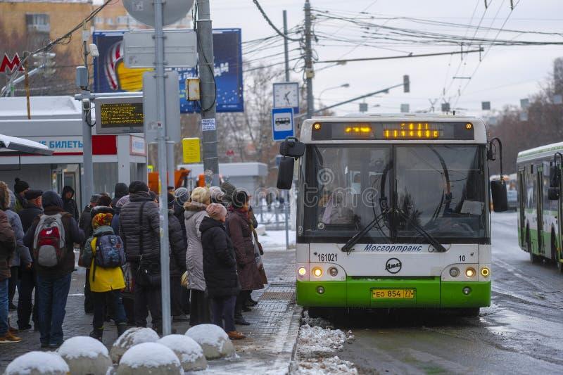 Autobus w Chehov obrazy royalty free