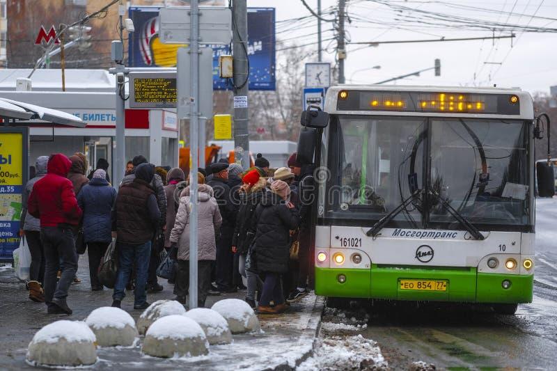Autobus w Chehov obraz stock