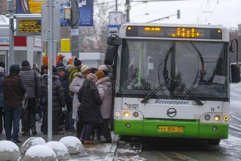 Autobus w Chehov fotografia stock