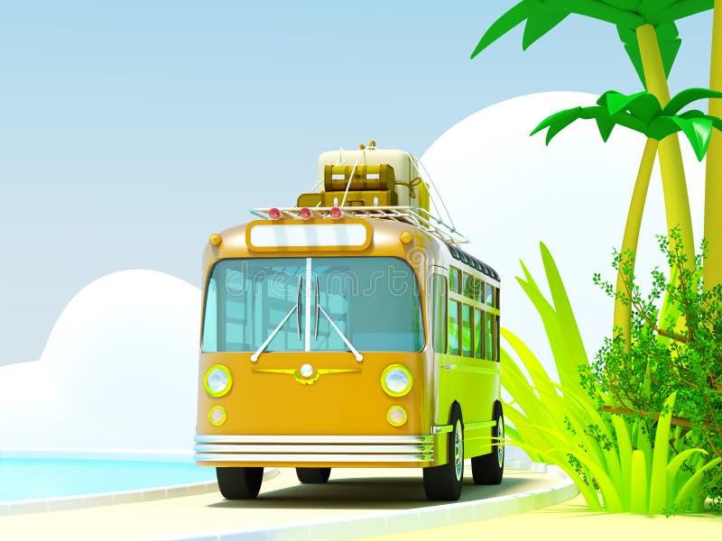 Autobusem tropikalna przygoda royalty ilustracja