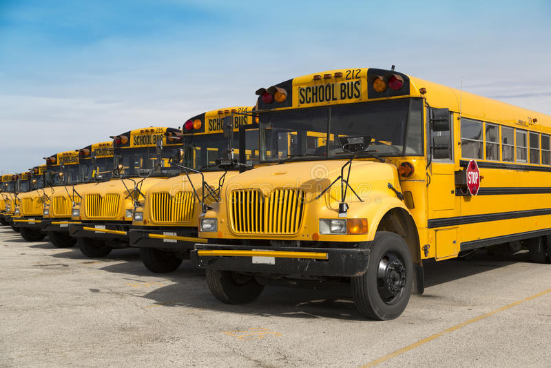 Autobuses escolares imágenes de archivo libres de regalías