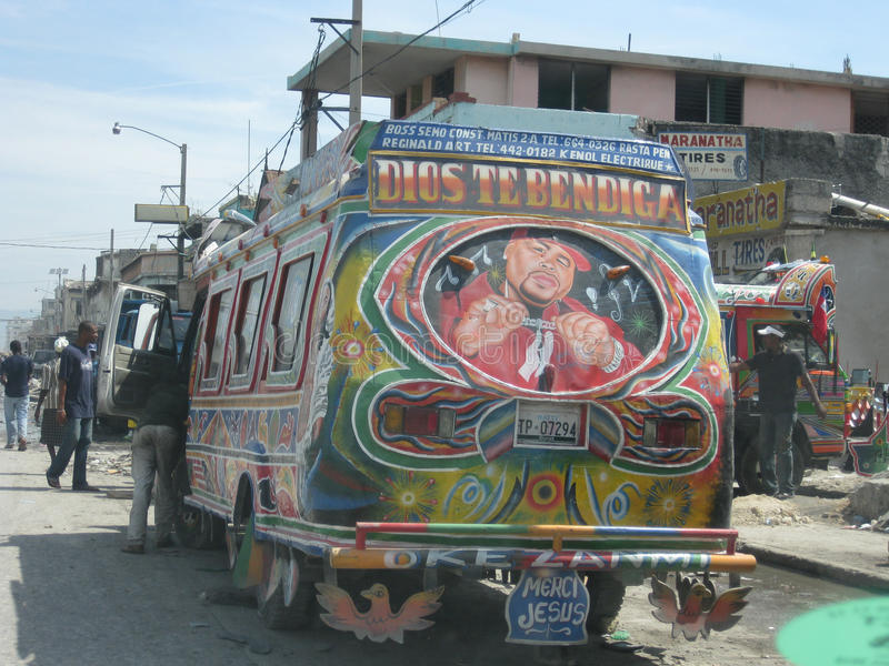autobusowa 2 nadzieja Haiti obraz royalty free