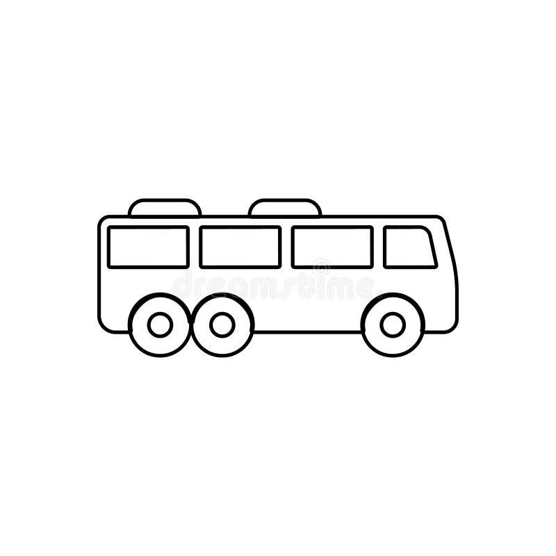 Autobusowa ikona Element transport dla mobilnego poj?cia i sieci apps ikony Kontur, cienka kreskowa ikona dla strona internetowa  royalty ilustracja