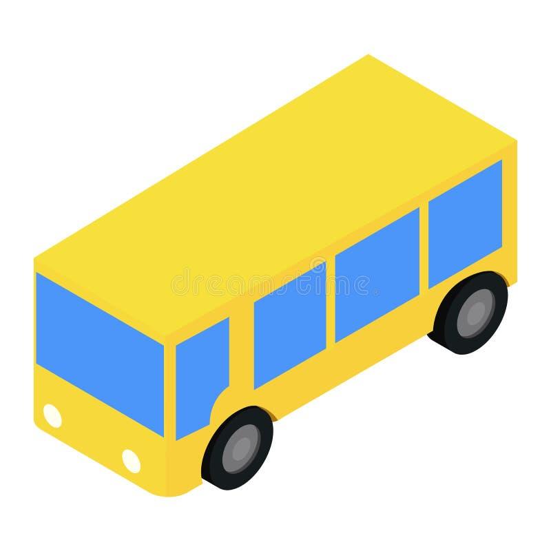 Autobusowa isometric 3d ikona royalty ilustracja