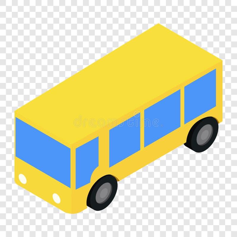 Autobusowa isometric 3d ikona ilustracji