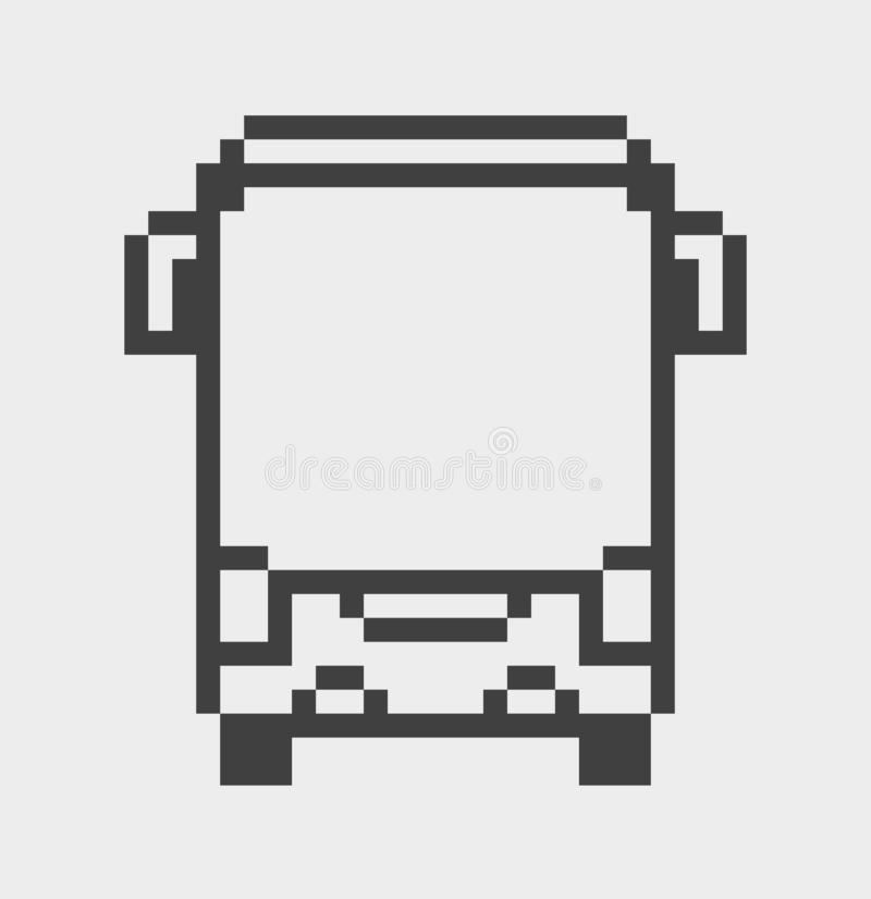 Autobusowa piksel ikona ilustracja wektor
