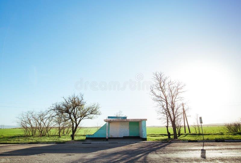 Autobusowa przerwa w wiosce fotografia royalty free