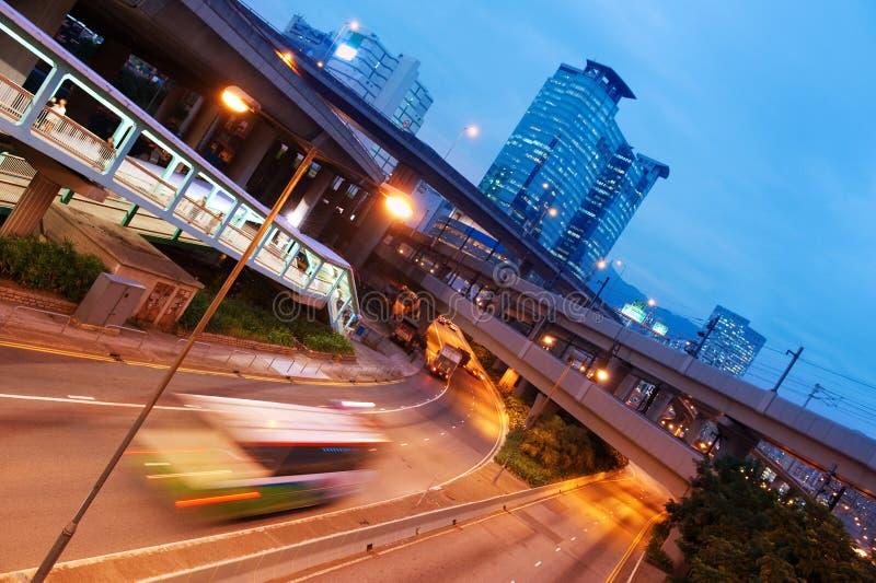 autobusowa szybka poruszająca noc zdjęcia stock