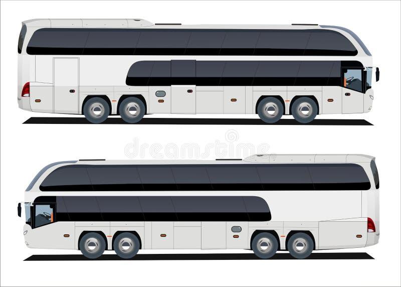 autobusowa wycieczka turysyczna ilustracji