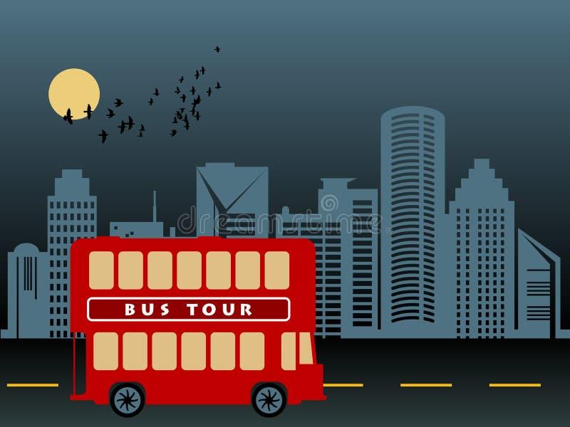autobusowa wycieczka turysyczna royalty ilustracja