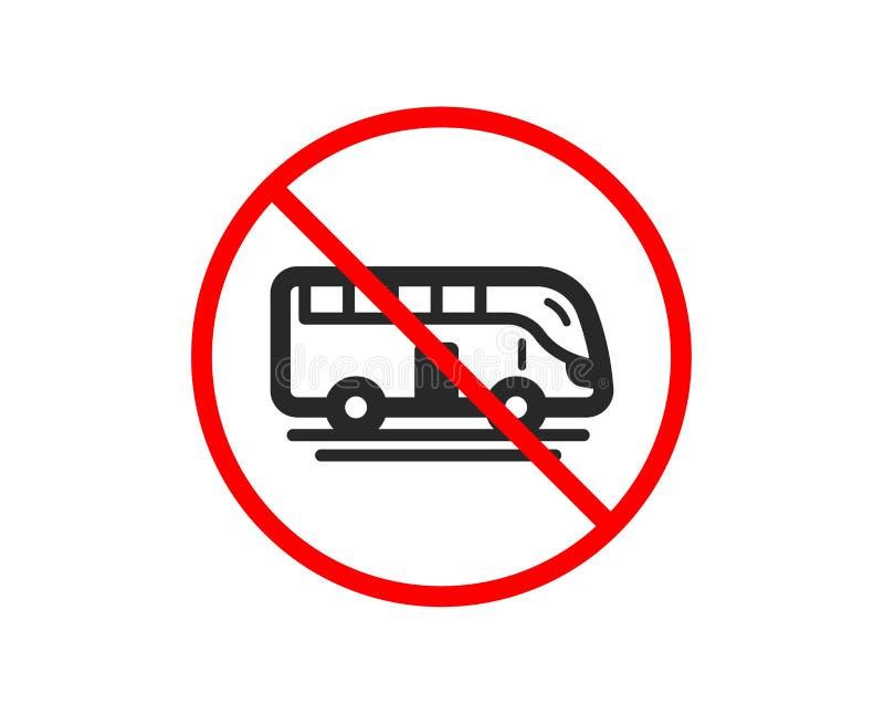 Autobusowa wycieczka turysyczna transportu ikona Transportu pojazdu znak wektor ilustracja wektor