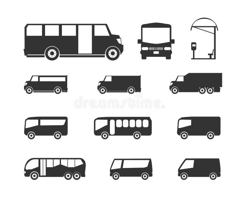 Autobusowe ikony obraz royalty free