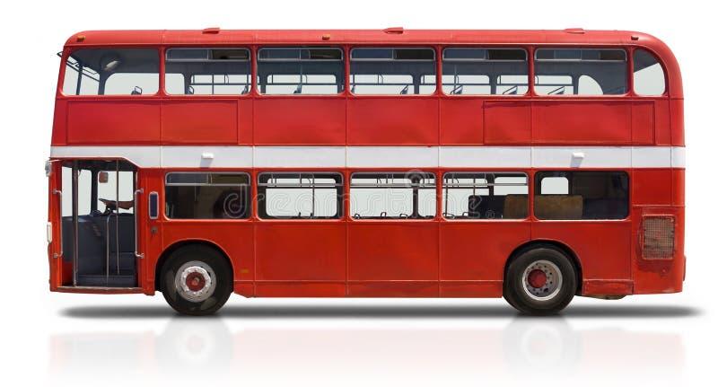 autobusowej decker kopii czerwony biel obrazy royalty free
