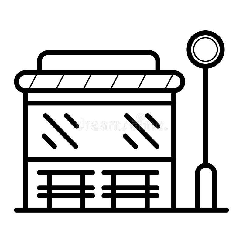 Autobusowej przerwy ikona ilustracja wektor