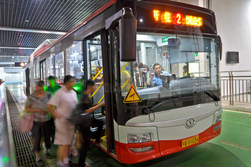 autobusowi ludzie obraz stock