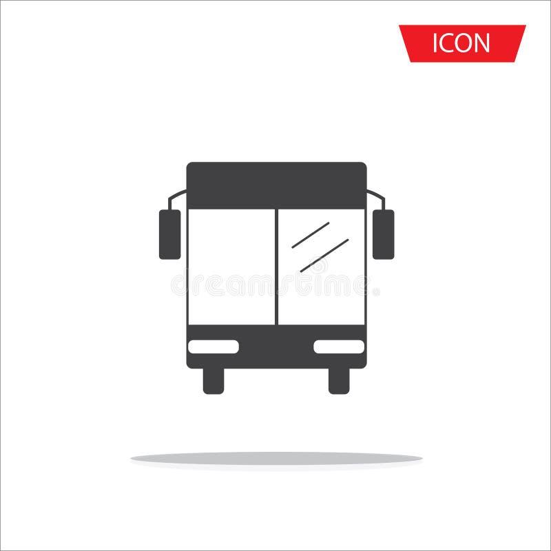 Autobusowy ikona wektor odizolowywający, Jawnego transportu symbole na bielu ilustracja wektor