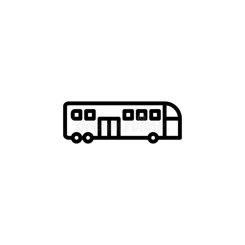 Autobusowy ikona zapas transportów pojazdy odizolowywał wektor royalty ilustracja