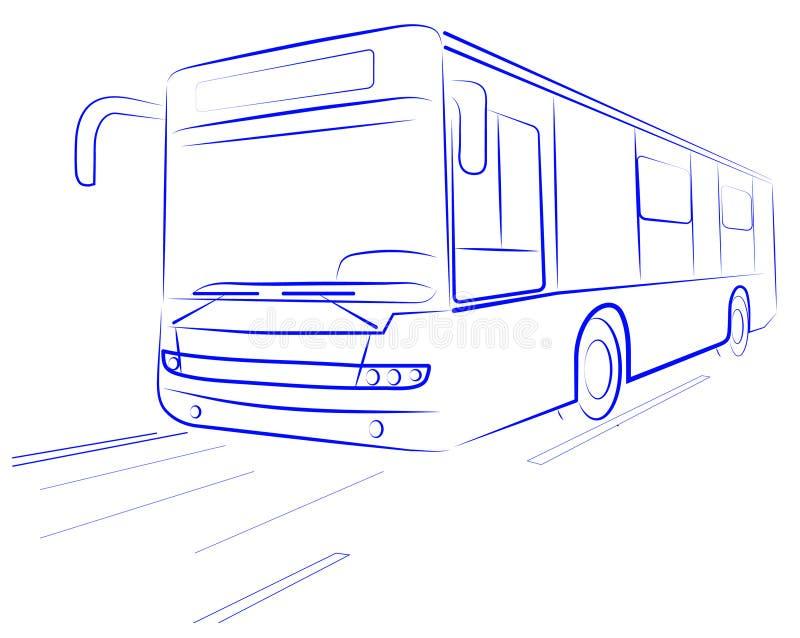 autobusowy miasto ilustracja wektor