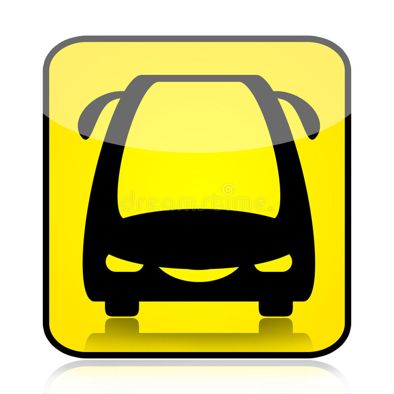 autobusowy nowożytny znak ilustracji