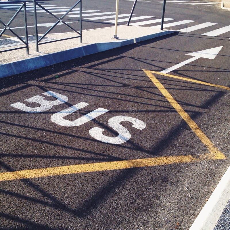 Autobusowy pas ruchu obraz royalty free