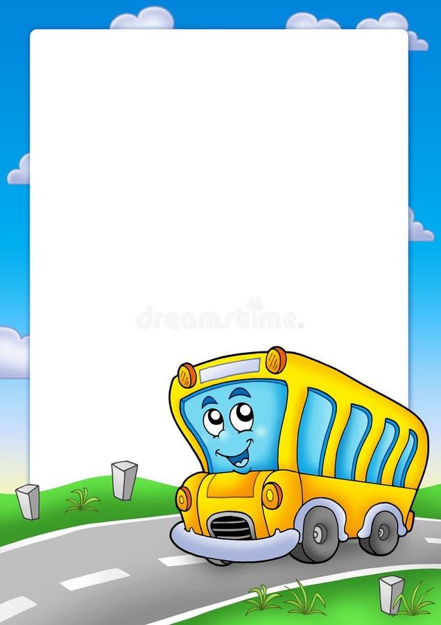 autobusowy ramy szkoły kolor żółty royalty ilustracja