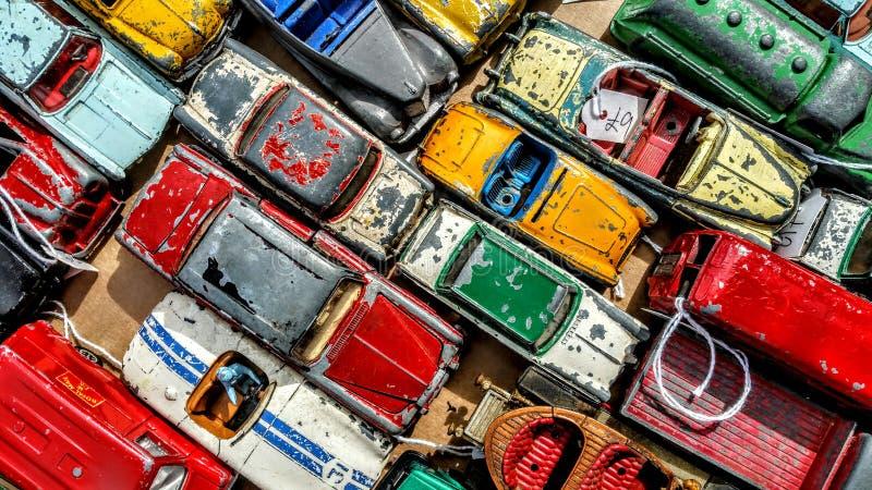 autobusowy samochodów taxi zabawki kolor żółty zdjęcia royalty free