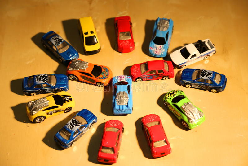 autobusowy samochodów taxi zabawki kolor żółty obrazy stock