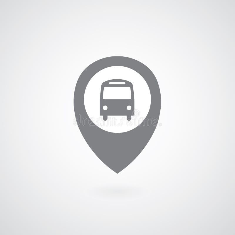 Autobusowy symbolu pointer royalty ilustracja